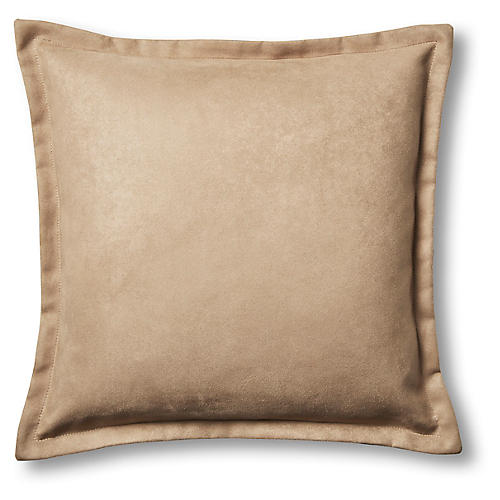 Kennedy 22x22 Pillow, Taupe