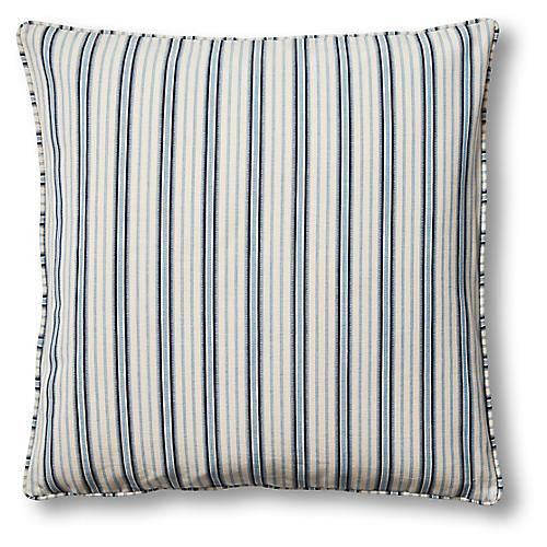 Maya 22x22 Pillow, Blue/Oyster