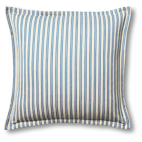 Quinn 22x22 Pillow, Blue/Oyster