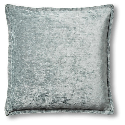 Cora 22x22 Pillow, Blue Velvet
