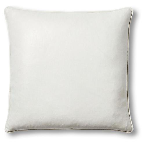 Troy 22x22 Pillow, Ivory Linen