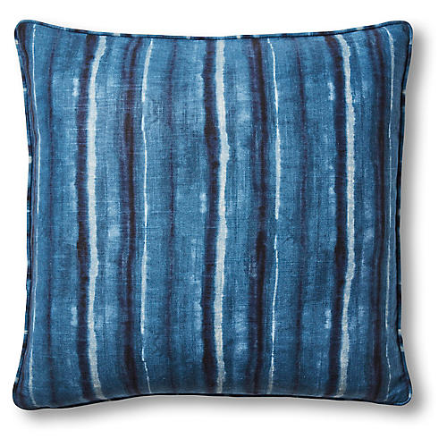 Kayla 22x22 Pillow, Blue Linen