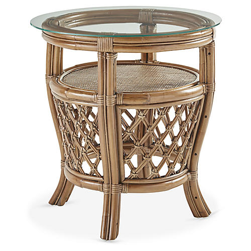 Nadine Rattan End Table, Natural