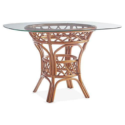 Antigua Rattan Round Dining Table, Natural
