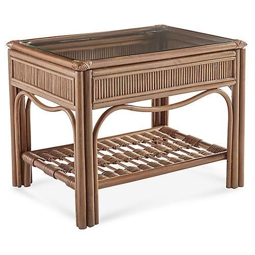 Bermuda Rattan Side Table, Natural