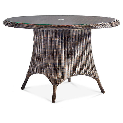 Del Ray Round Dining Table, Chestnut