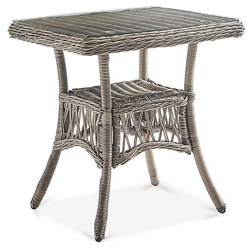 Westbay Glass Side Table, Slate Gray