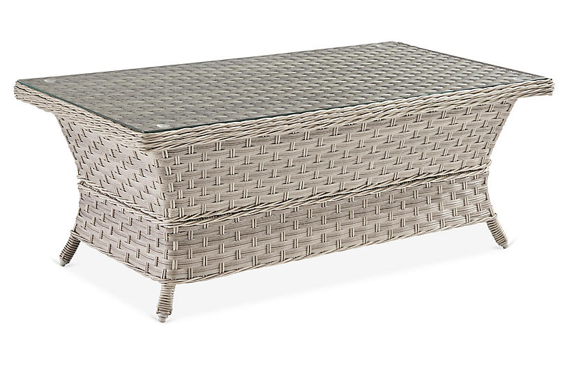 Mayfair Glass Coffee Table, Gray