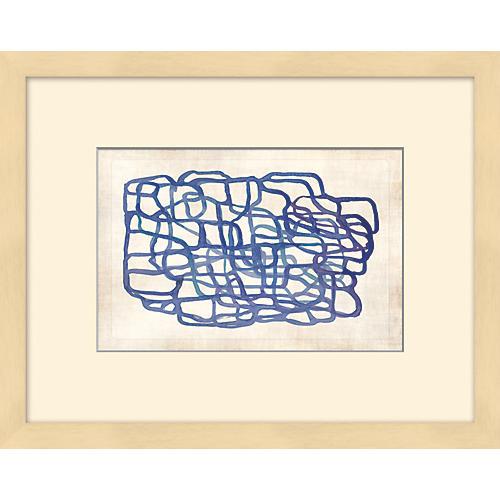 Blue Oblique Lines