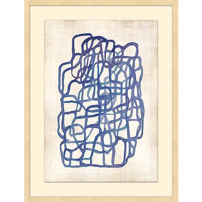Blue Oblique Lines II