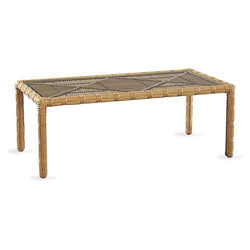 Rafter Coffee Table, Straw