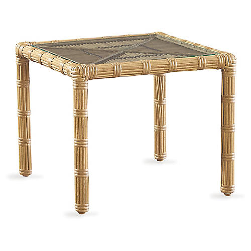 Rafter Side Table, Straw
