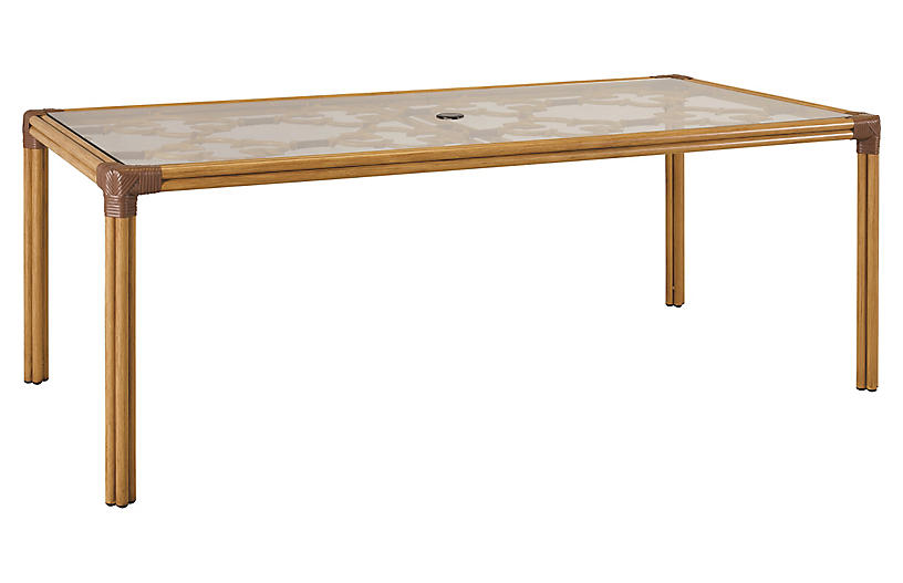 Mimi Dining Table, Natural/Cappuccino