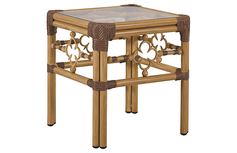 Mimi Side Table, Natural/Cappuccino