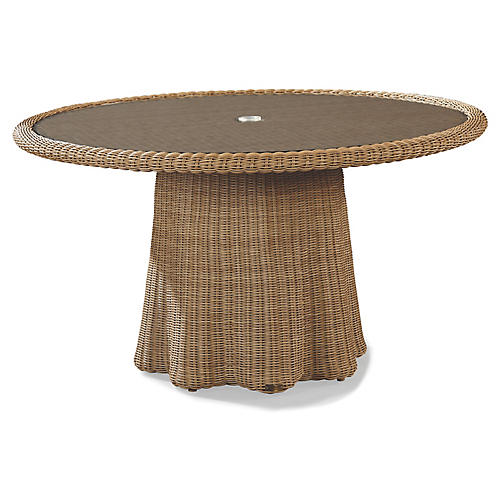 Crespi Round Dining Table, Natural
