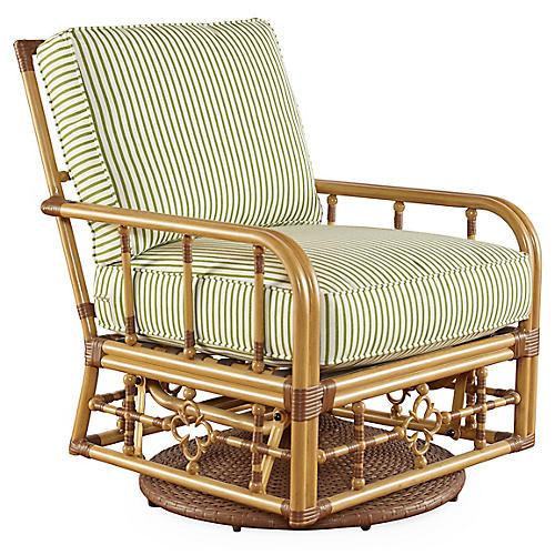 Mimi Glider Lounge Chair, Cilantro Sunbrella