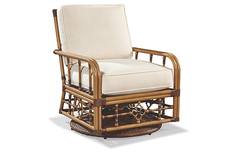 Mimi Glider Lounge Chair, Canvas Sunbrella