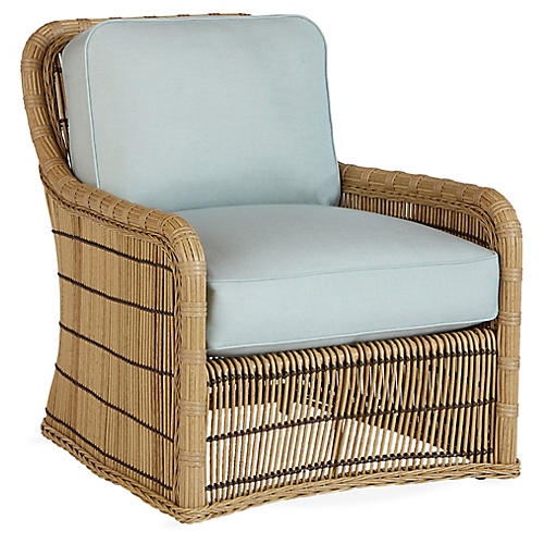 Rafter Lounge Chair, Mist Sunbrella
