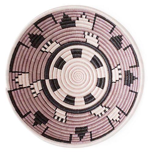"""12"""" Accra Plateau Basket, Mauve/Black"""