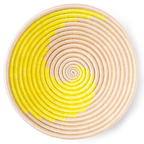 "12"" Swirl Plateau Basket, Citron/Tea"