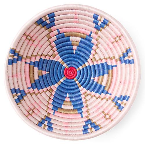 "12"" Royal Plateau Basket, Blue/Red"