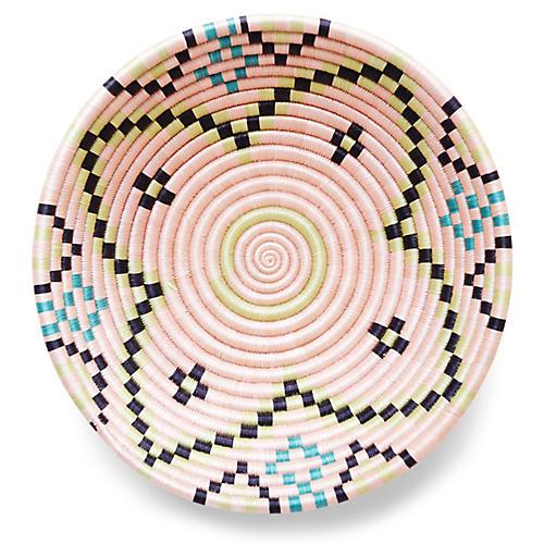 "12"" Tarkwa Plateau Basket, Pink/Neon"