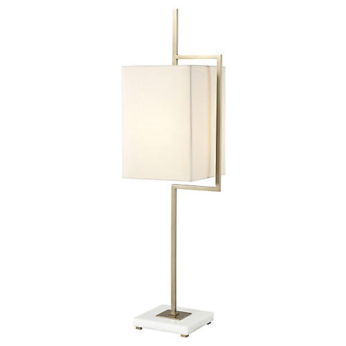 Diversion I Table Lamp, Brass