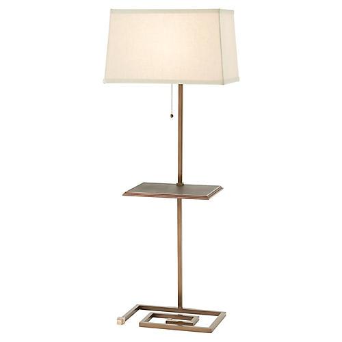 Keyed Up Too Floor Lamp, Brass
