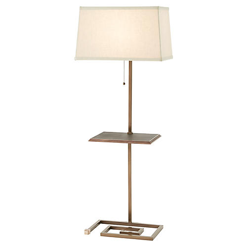 Keyed Up Too Floor Lamp, Brass