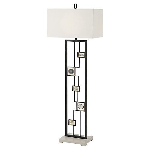 Polish II Floor Lamp, Black