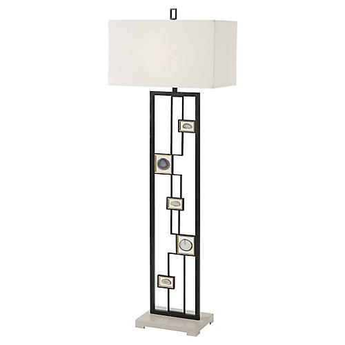 Polish II Floor Lamp, Black