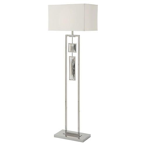 Sway IV Floor Lamp, Polished Steel