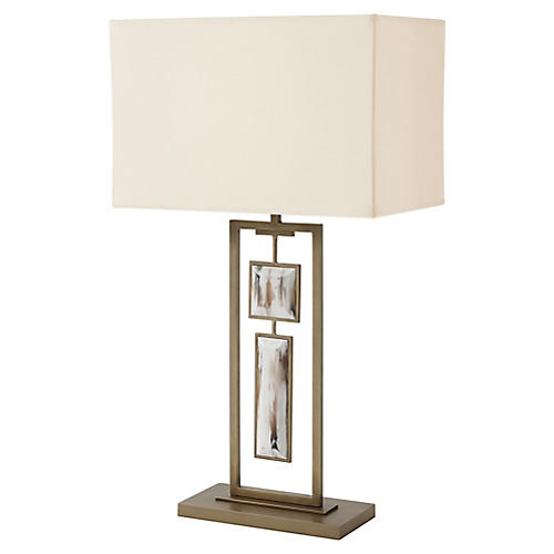 Sway I Table Lamp, Aged Brass