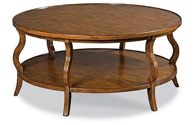 Katula Coffee Table, Dark Cherry