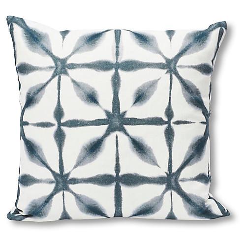 Andromeda 18x18 Pillow, Indigo/White Linen