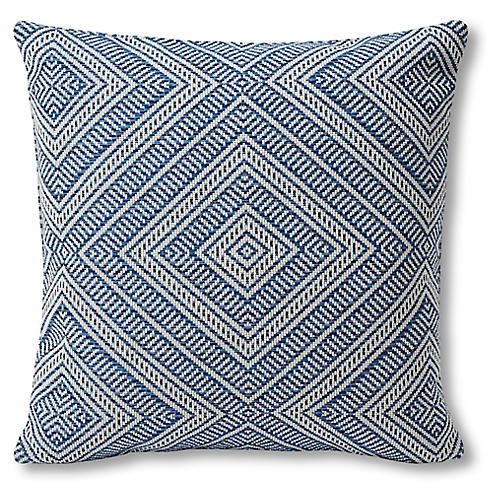 Tortola 18x18 Outdoor Pillow, Marine