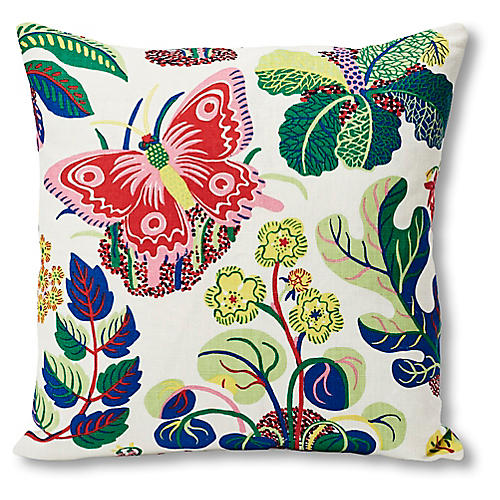 Butterfly 18x18 Pillow, Spring Linen