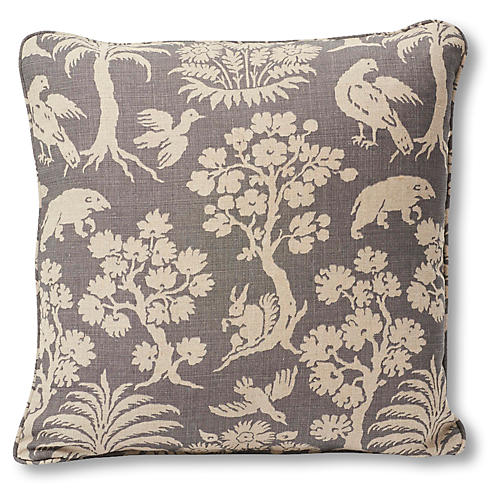 Woodland 18x18 Pillow, Earth/Tan Linen
