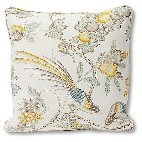 Campagne 18x18 Pillow, Citron Linen