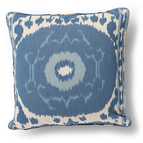 Samarkand Pillow, Indigo/Ivory