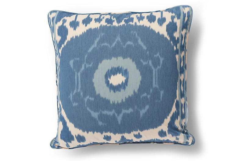 Cool Samarkand Pillow Indigo Ivory Gmtry Best Dining Table And Chair Ideas Images Gmtryco