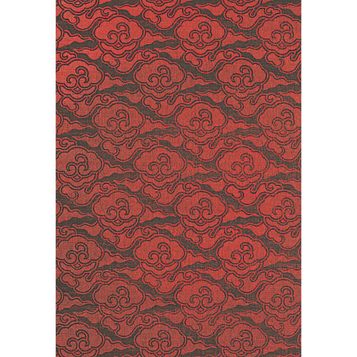 Cirrus Clouds Wallpaper, Red
