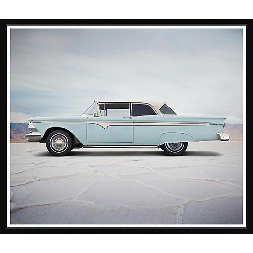 , Blue Classic Car
