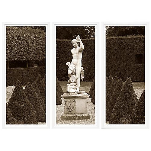 Garden Statue Triptych