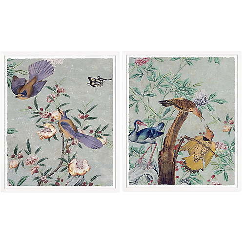 Chinese Paper Diptych