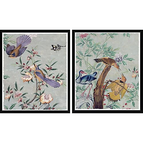 , Chinese Paper Diptych
