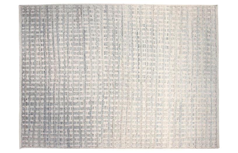 9'x12' Brooklyn Rug, Silver Blue