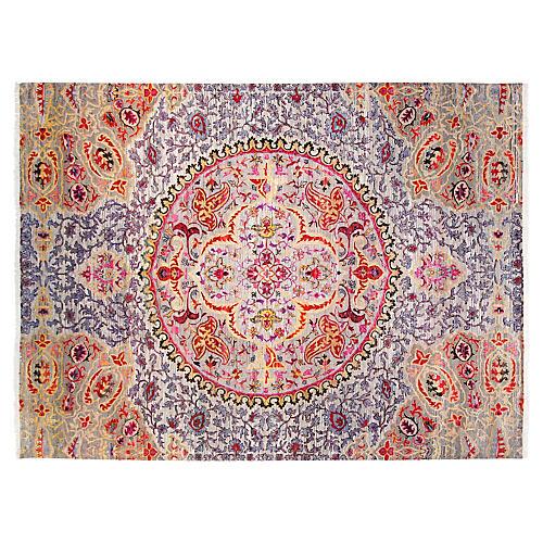 9'x12' Sari Silk Talia Rug, Purple/Multi