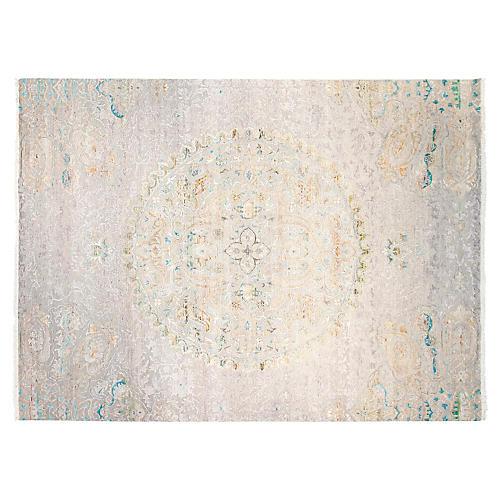 9'x12' Sari Silk Avital Rug, Gray/Multi