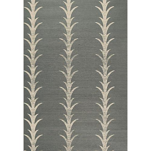 Acanthus Stripe Wallpaper, Shadow